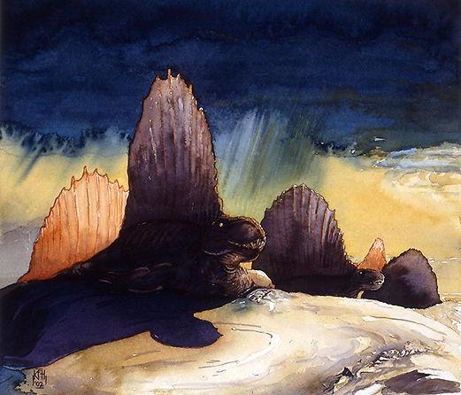 Dimetrodon  watercolor