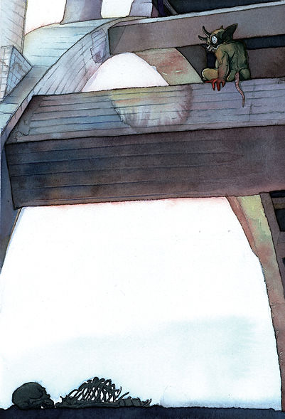 Troll Bridge  watercolor