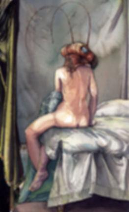 aunt Kafka  watercolor