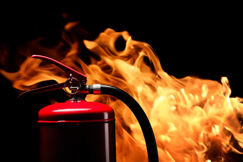 Fire Extinguisher and Fire