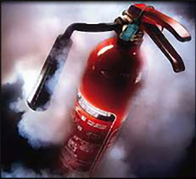 Fire Extinguisher and Smoke