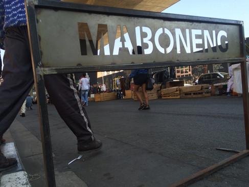 Maboneng, an urban neighbourhood in down