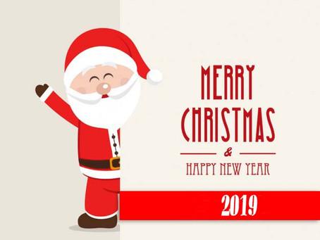 MERRY CHRISTMAS/ HAPPY NEW YEAR 2019