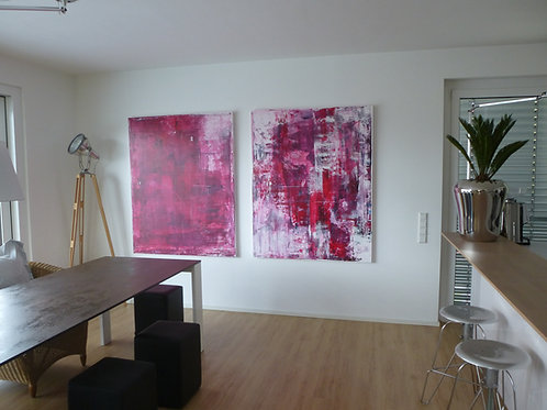 XXL BILD RAKELTECHNIK NACH RICHTER 240x150cm ABSTRACT PAINTING