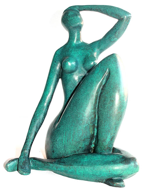 NUDE BLAUER AKT II BRONZESKULPTUR SCULPTURE BRONZE BLUE NUDE AFTER MATISSE