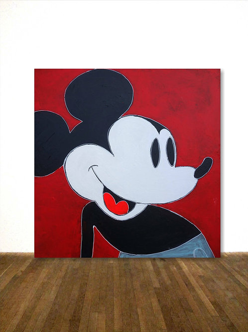 MICKEY MOUSE  POP ART BILD NACH WARHOL 100x100cm  ABSTRACT PAINTING