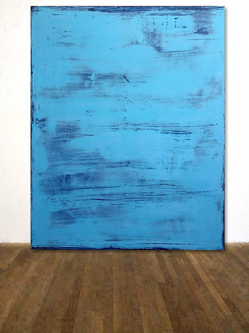 BILD TÜRKIS BLAU 120x150cm BLUE ABSTRACT COLORFIELDPAINTING AFTER ROTHKO