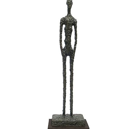 BRONZESKULPTUR MANN LARGE MAN SCULPTURE BRONZE AFTER GIACOMETTI
