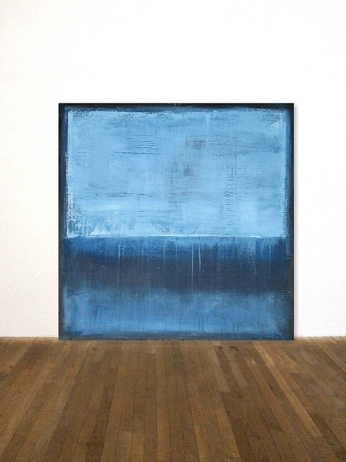 ROTHKO HOMMAGE BILD GEMÄLDE 80x80cm BLUE ABSTRACT PAINTING