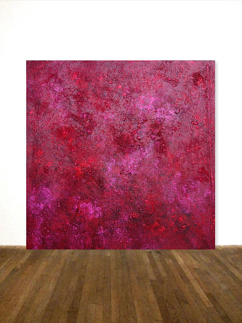 """ROTES BILD PAINTING RED 100x100cm/ 40""""x40"""" ROTHKO HOMMAGE"""