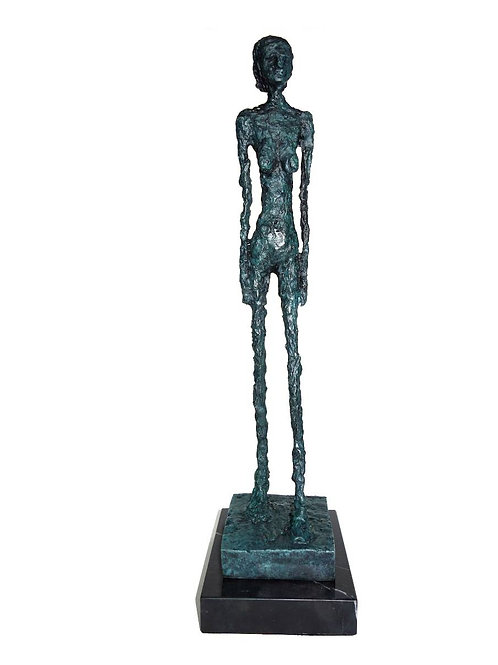 BRONZESKULPTUR LARGE WOMAN SCULPTURE BRONZE AFTER RICHIER LIMITED EDITION