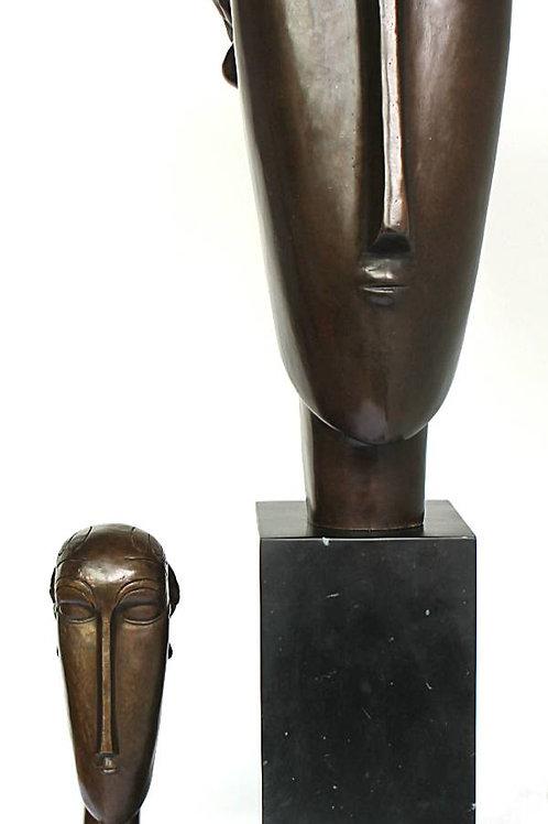 XL KARYATIDE NACH/ AFTER MODIGLIANI BRONZESKULPTUR SCULPTURE BRONZE 85cm