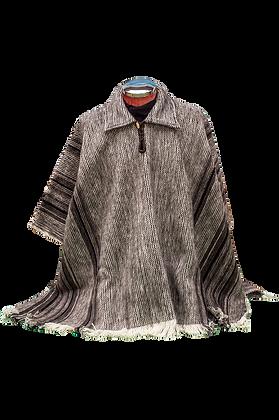 Ruana cuello lana
