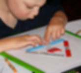 Triangle fire diagram teaches student about fire through tactile adaptations and braille