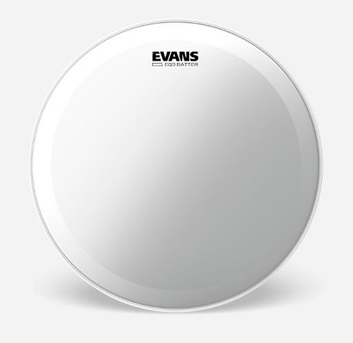 """EVANS - EQ 3 Clear - Peau de bass drum 22""""- Batter"""