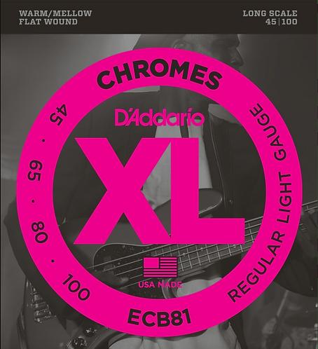 D'ADDARIO - ECB81 - Chrome 45-100 - Ensemble de cordes pour basse
