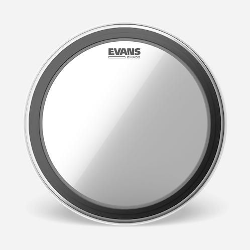 """EVANS - EMAD 2 Clear - Peau de bass drum 22""""- Batter"""