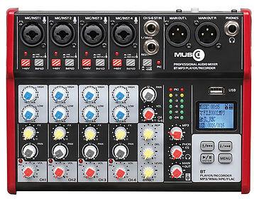 MUSIC8 - M8-6ME  - Console USB avec 6 entrées et 2 sorties