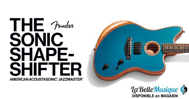 BANNIERE - FENDER-American JazzMaster - Ocean Turquoise