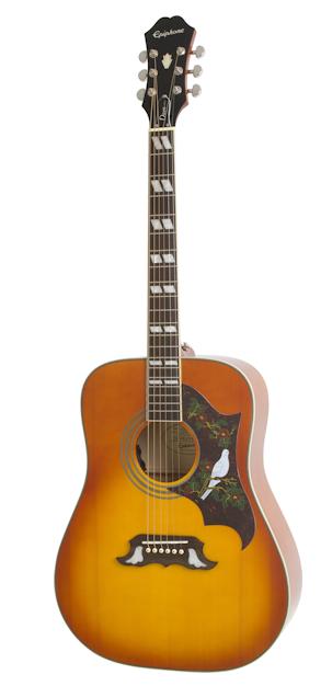 Epiphone Dove Pro - Guitare électro acoustique - Violin Burst