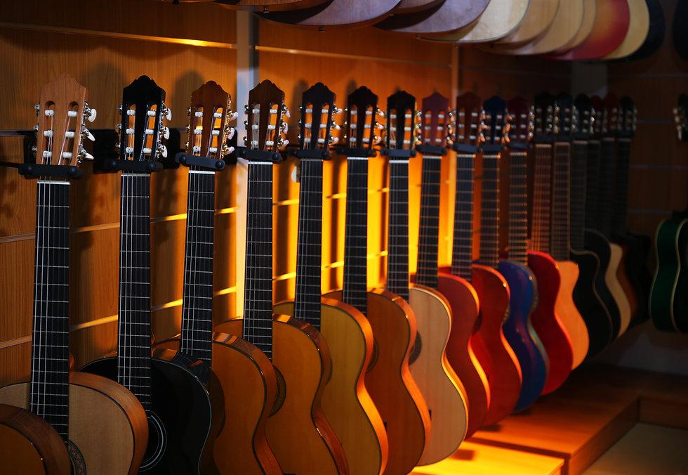Guitars in music store.jpg