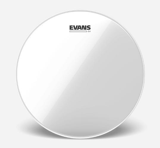 """EVANS - TOM G1 Clear - Peau de tom 14"""" - Reso"""