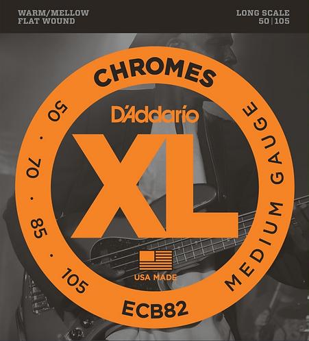 D'ADDARIO - ECB82 - Chrome 50-105 - Ensemble de cordes pour basse