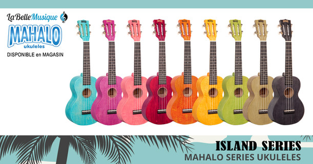 BANNIERE - MAHALO - Island Series - Ukuleles concert