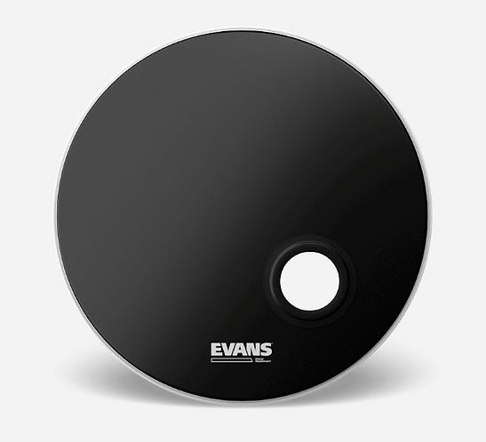 "EVANS - EMAD Black - Peau de bass drum 22""- Reso"