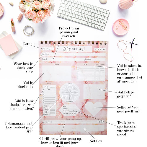 Project Notepad daily Goals & Projects A4