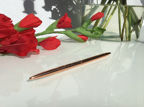 Chick Story Pen  - Metal - Rose gold