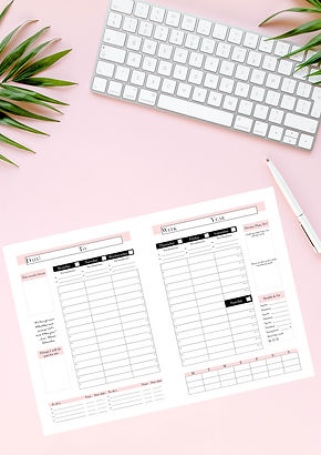 Freebie planner pages + mock up ingevuld