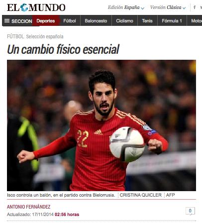 Antonio Fernández cuenta en El Mundo su apuesta personal por Isco
