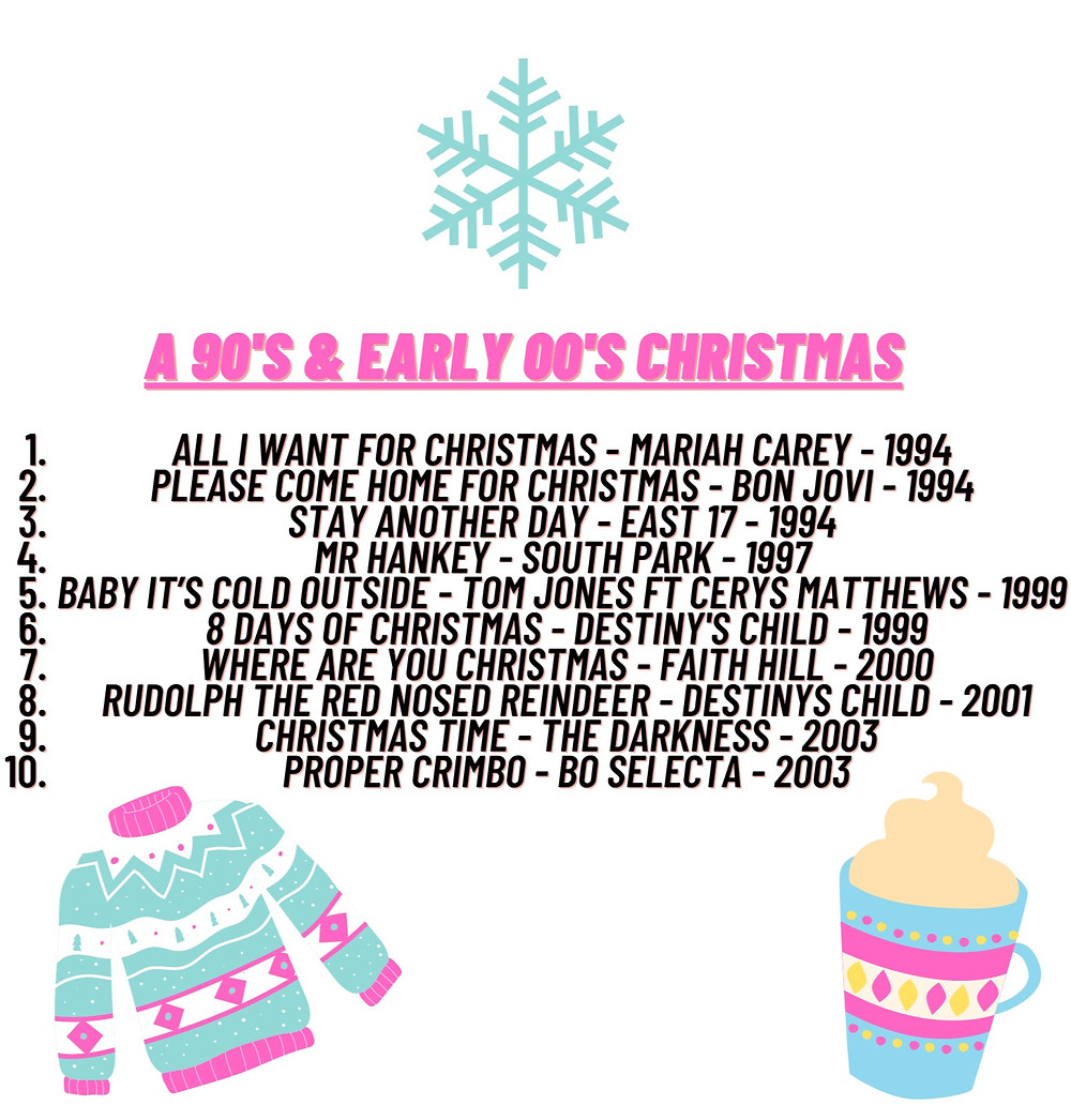 90s and 00s Festive Playlist