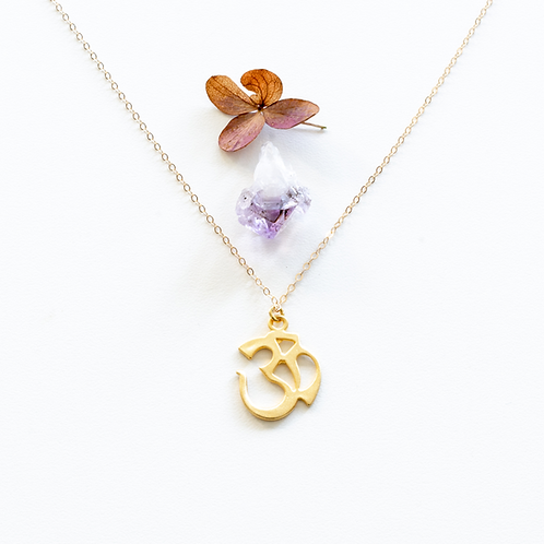 BE GRATEFUL - GOLD VERMEIL NECKLACE