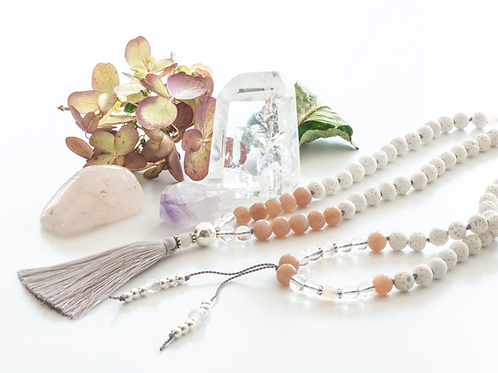 BE BLISSFUL - STERLING SILVER MALA