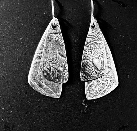 Double layer earrings