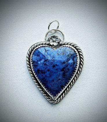 True Blue Heart Pendant