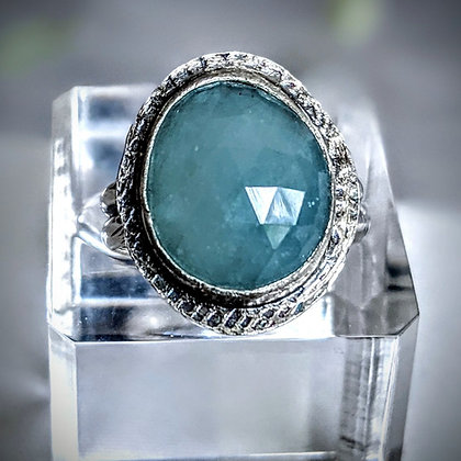 Aquamarine & Sterling Silver Ring