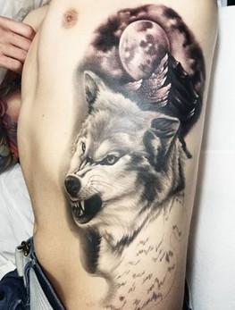 black and grey realism tattoo long island