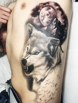 black and grey realism tattoo long island