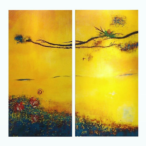 abstract yellow vision the 1rd, 120*60cm each, dreamed by Walaa Bashatah 2010