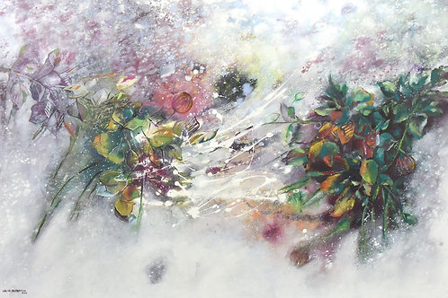 Plants Connects By Walaa Bashatah100x150cm, 2017
