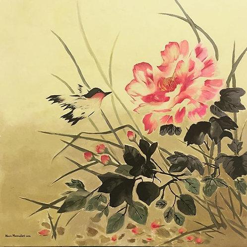Taief Roses by norah Nora Hamadani 100x100cm, 2016