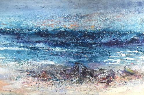 Waves By Walaa Bashatah 100x150cm, 2017