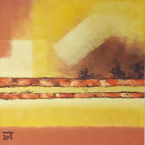 Urban Red 3 Together 4 By Dr.Tagreed Aljadani 80 x 80 cm