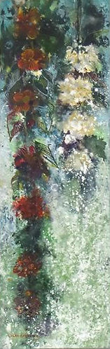 Coffee Flower mini 2nd By Walaa Bashatah100x40cm, 2017