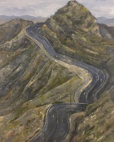 Taief Road 80x100cm , By Afrah Hamadaini