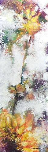 mini One Sunflower by Walaa Bashatah 40x100cm, 2017