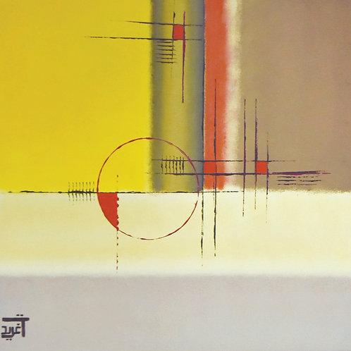 Urban Red By Dr.Tagreed Aljadani 80 x 80 cm